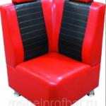Диван Авто черно-красное
