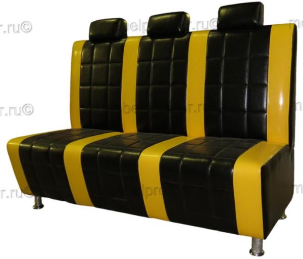 Диван Авто черно-желтый1