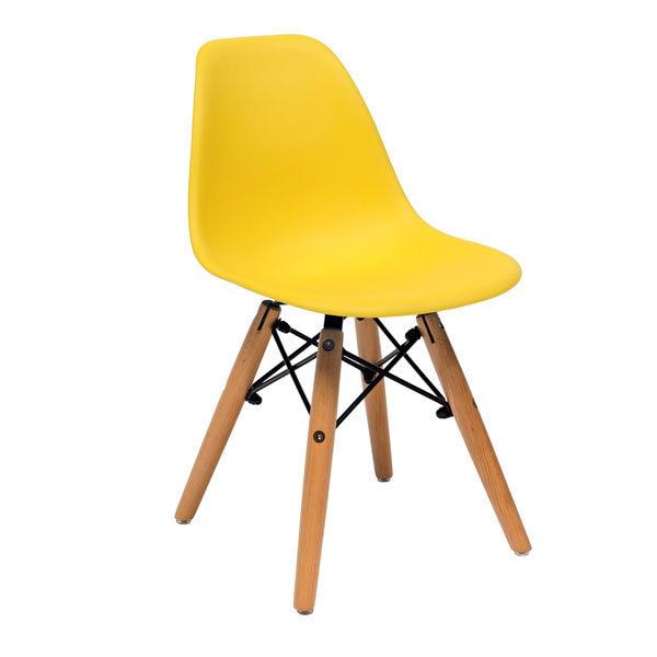Стул-Eames-D-детский-желтый