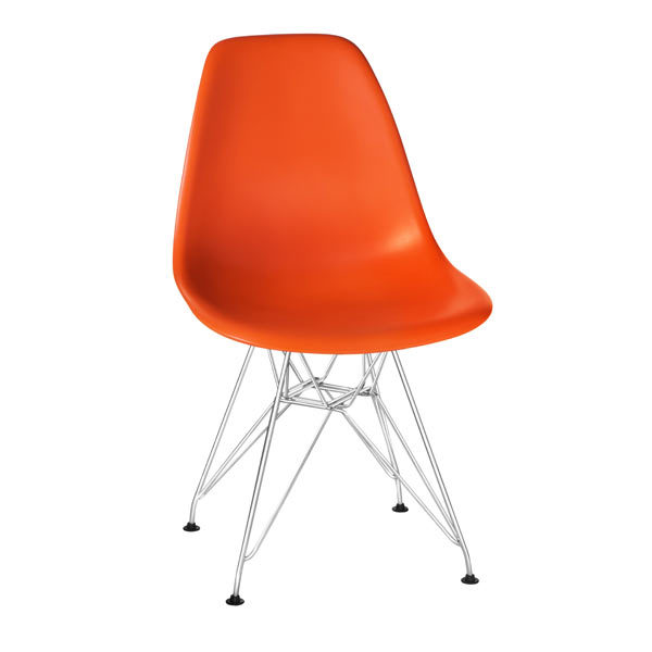 Стул-пластиковый-Eames-оранжевый